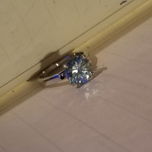 Jewelry - 4ct Blue Moissanite Sterling Silver 925 Ring